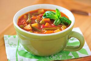 cup of minestrone soup