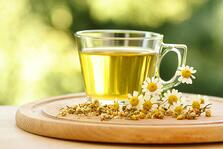 Chamomile Tea helps soothe inflammation.
