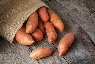 Sweet potato fries are very popular and are easy to make.
