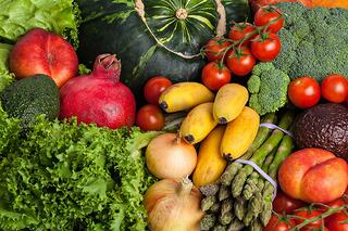 Fresh and raw fruits and Vegetables